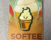 SOFTEE - Soft Enamel Pin Kawaii Cute Ice Cream Cone Art