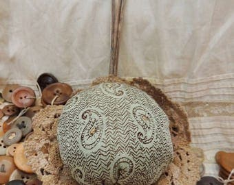 Pincushion made from a Vintage Ladle