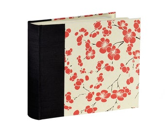 Photo Album  Red Flower 9-1/4 x 7-3/4 Landscape Style