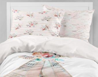 boho girls room boho girls bedding tribal teepee toddler duvet covers floral toddler