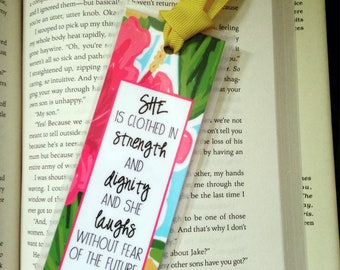 Proverbs 31 Laminated Bookmark // Gift for Book Lover // Religious Gift