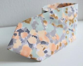 Pastel Camo Floral Neck Tie