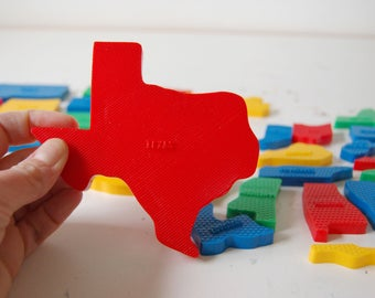 Texas Magnet - Vintage State Magnet - State Souvenir - Plastic Magnet - Texas State Gift - United States Magnet Gift - Teacher Gift