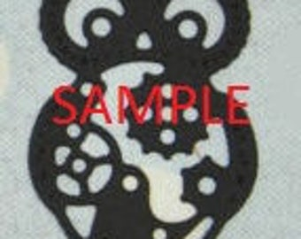 Steampunk Cog Owl Cross Stitch Chart