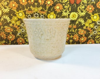 Vintage Retro 60s 70s Bay West Germany Planter No 66312 Daisy Beige Art Pottery