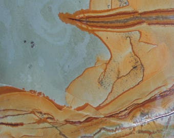 Owyhee jasper Slab, old new stock lapidary material with desert scences and landscapes