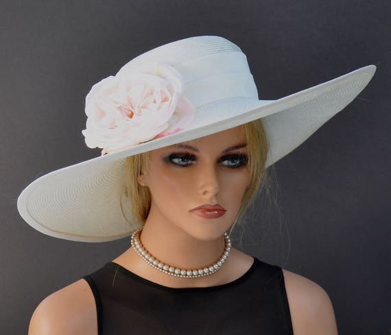 Kentucky Derby Hat, Wedding Hat, Wide Brim Hat, Derby Hat, Ascot Hat, Church Hat, Occasion Hat, Mother of bride hat