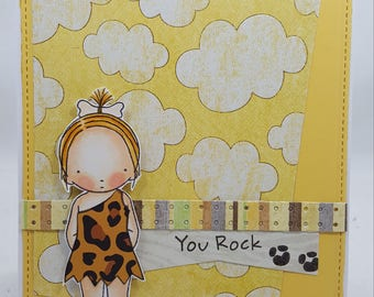 Bedrock Girl Blank NoteCard, Greetings Card, Handmade Card