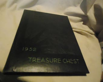 Vintage 1952 Treasure Chest Pittsburg High School Yearbook or Annual Pittsburg Texas, collectable