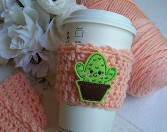 Crochet Coffee Cup Cozy ~ Cactus