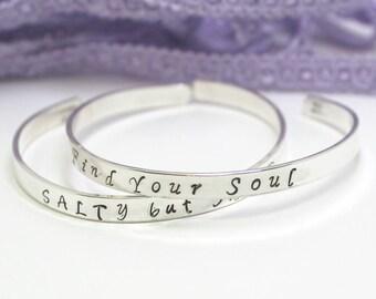 Custom Cuff Bracelet Personalize, Mantra Cuff Bracelet, Personalize Jewelry, Custom Jewelry, Mother Bridal Gift, Sterling Silver Cuff