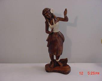 Vintage 1959 Treasure Craft Hawaiian Hula Girl Figurine BROKEN & REPAIRED  17 - 812