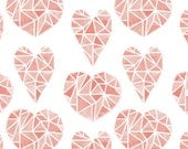Girl Baby Bedding -Fitted Baby Sheet Girls /Changing Pad Cover /Pink Baby Bedding Set /Mini Crib Sheets /Heart Crib Sheet /Geometric Bedding