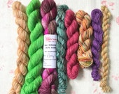 Mixed Minis - at least 100g total weight - Fingering weight - Various Indie Dyers - Various bases - Pack 2