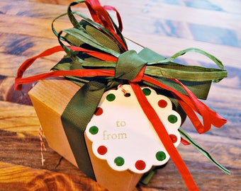 Wooden christmas gift tags Wooden tags Christmas gift tags hand painted tags by oscar & ollie