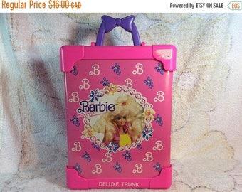 20% SALE Barbie Storage Case Closet Wardrobe Doll Case 1991 Mattel Collectible Pink Barbie Doll Case