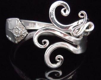 Silver Fork Bracelet in Original Fancy Design Number Seven