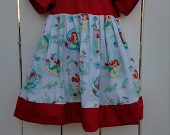 Size 3 Red Little Mermaid Dress