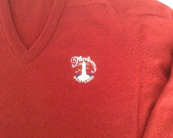 Rich red wool Turberry Golf Course Sweater