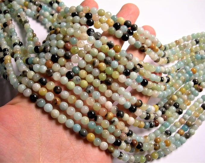 Amazonite - 6mm round beads - 16 inch - strand - 66 beads - RFG1348
