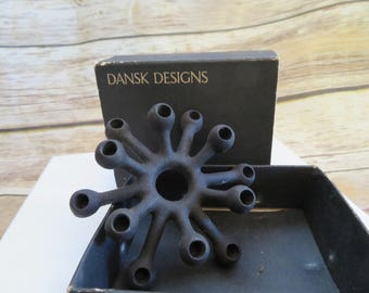 Vtg Mid Century Dansk Design Spider Cast Iron Metal Candlestick 12 Candle Holder Jens Quistgaard