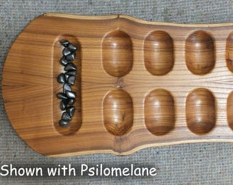 Primitive Mancala Game Board in Russian Olive - Handmade from US grown reclaimed wood   RO17003