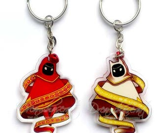 Clear double sided acrylic charm Journey  Keychain