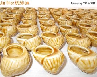 SALE 10% OFF REDUCED**     Set of 6 Ceramic Escargot Shells, Snail Serving Shells.