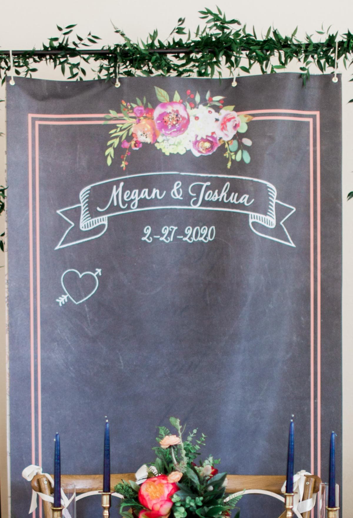 Wedding Backdrop for Booth or Ceremony Decor Chalkboard