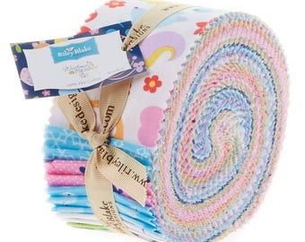 Wildflower Meadow Rolie Polie Jelly Roll by Melly & Me for Riley Blake