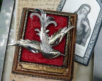 Rare Vintage Sterling Silver Figural Bird Brooch, Bird in Flight, offered by Rustic Gypsy