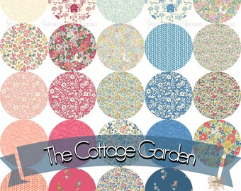 PreOrder COMPLETE fat quarter bundle of the Cottage Garden quilting cotton collection by Liberty of London - 24 pieces