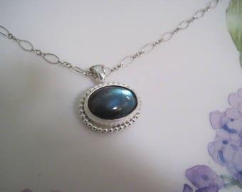 Labradorite pendant, labradorite pendant in silver, labradorite necklace, labradorite jewelry, gemstone necklace, gemstone necklace
