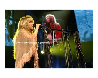 "Stevie Nicks with Tom Petty Concert Photo - 8"" x 10"""