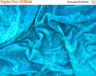 CIJ SALE deep turquoise velvet fabric by the yard velvet fabric fabric for craft - 1 yard - vlt023