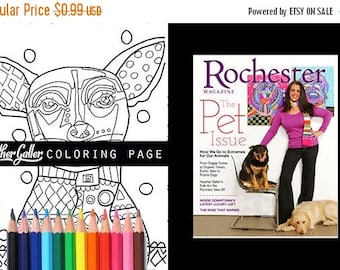 50 off today chihuahua coloring book pages dog adult coloring book coloring