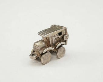 ON SALE Extremely Rare HTF Vintage Sterling Gangster Delivery Truck with Movable Wheels and Opening Door.