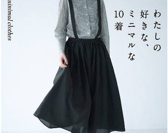 My Favorite 10 Mimimal Clothes Sewing Book Craft Pattern Book Japanese