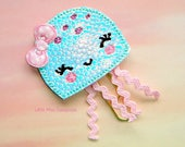 Holo Jellyfish Planner Clip Paperclip in pastel pink aqua lavender