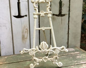 Vintage Shabby Chic Easel Picture Stand Scroll Work