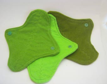 3 Cloth Panty Liners-The Mean Green