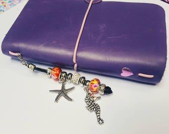 Starfish, seahorse, travelers notebook, planner accessories, travelers notebook accessories, charms, planner charms, planner accessories