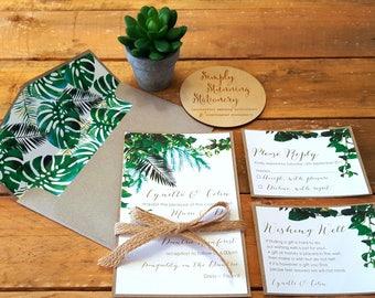 Eco Greenery Wedding Invitation - SAMPLE