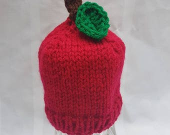 Crocheted Baby Newborn Apple Hat Photo Prop Shower Gift