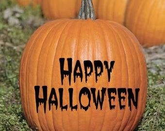 Halloween Pumpkin  Vinyl Decal Sticker