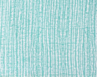 Mint and White Wood Grain Marble Look Brushed Poly Spandex Knit, 1 Yard