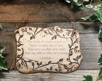 Wonderful SARK Quote Handmade Ceramic Plaque