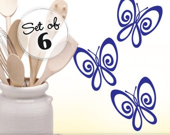 Wall Decal Butterfly Wall Sticker Vinyl Wall Decal Butterflies Bedroom Decor Kitchen Cabinet Mini Wall Decals (0178a)
