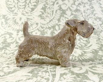 Cast Iron Terrier Figurine, Schnauzer, Wheaten