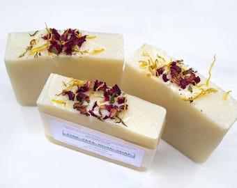 LAVENDER Bar Soap, Soap Bar, Feminine, Exfoliating, All Natural, Cold Process, Handmade, Sensitive Skin Soap, Luxury Soap